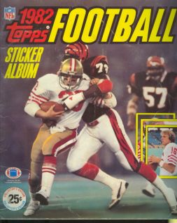 1982 Topps Football Sticker Album Joe Montana 49ers