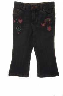 Baby Girls Infant Toddler Blue Jeans Pants Butterfly Flare 18 24 Months New