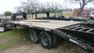 25ft Dually Axle Gooseneck Flatbed Trailer Swing Down Ramps Electric Brakes