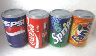 Set of 4 Cans Fridge Magnet Coke Coca Cola Fanta Sprite Pepsi Mini Food Drink