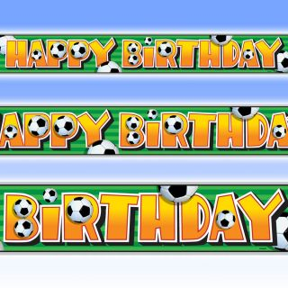 12ft Football Sports Party Happy Birthday Foil Banner