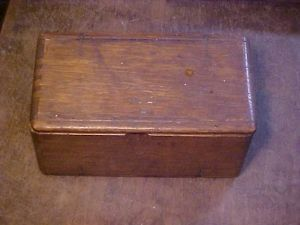 Vintage 1889 Singer Sewing for Machine Attachments Wood Folding Puzzle Box