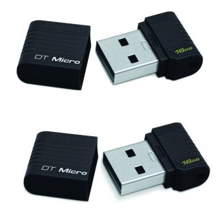 New Kingston 16GB DataTraveler Micro USB Flash Drive Memory Stick Pen Black UK