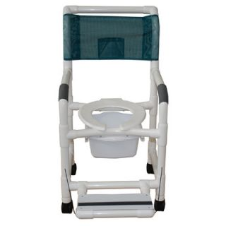 MJM International Standard Deluxe Shower Chair with Footrest with Optional Accessories & Reviews