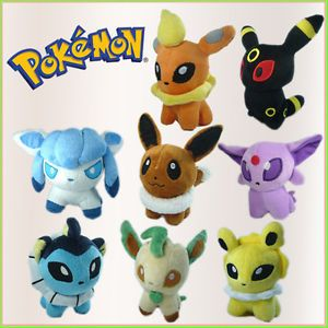 8x Nintendo Pokemon Soft Stuffed Animal Plush Toy 8 Characters Evolve from Eevee