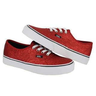 Vans Classic Authentic Glitter Red Womens US Size 7 5 Mens 6