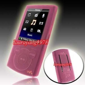 Pink Silicone Skin Case Cover for Sony Walkman NWZ E344