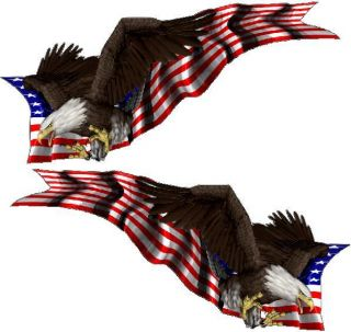 American Bald Eagle Flag Vehicle Graphics Semi Truck Trailer Decals