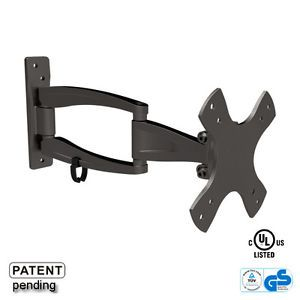Small Full Motion Articulating LCD LED Plasma Corner TV Wall Mount Fits 12 23""