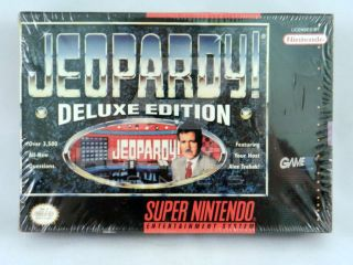 Jeopardy Deluxe Edition Super Nintendo SNES Game Brand New Factory SEALED