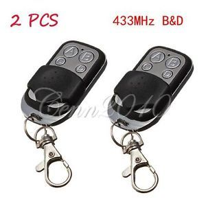 2pc 433MHz Gate Garage Door Key Remote Control Compatible with B D 059116 062162