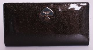 Kate Spade Glitter Bug Stacy Wallet in Black