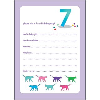 10 Childrens Birthday Party Invitations 7 Years Old Girl Bpif 55 Cats
