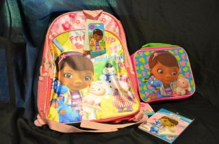 New Disney Doc McStuffins School Lot Backpack Lunch Box Reward Booklet