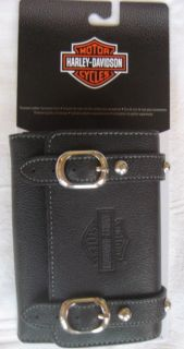 Harley Davidson Black Leather Camera Cell Phone PDA GPS NIP Accessory Case