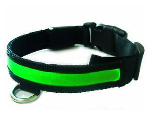 Lighted Safety Collar LED Dog Collar Glow in The Dark Light Up Pet for Safety