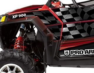Racing Decals Graphics Kit 2011 Polaris Ranger RZR900 900XP 900 Proarmor Doors