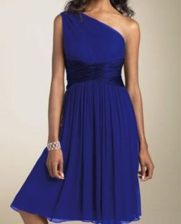 One Shoulder Strap Cocktail Dress Bridesmaids Bridal Party Color Size Can Choice