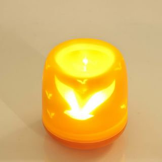 LED Electronic Flameless Lights Projection Candle Bird Lamp Color Party Romantic