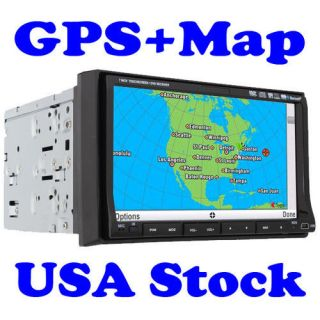 "iPod Radio GPS Navigation Device Pip HD 7"" in Dash Head Unit Car DVD CD Player"