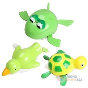 New Cute Wind Up Bath Diver Plastic Toy Swimming Baby Kids Bath Toys F8S