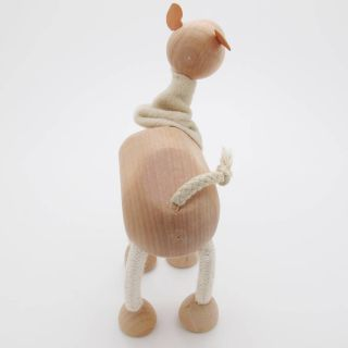 3D Portable Wooden  Animals Wood Figures Baby Kids Toys Camel