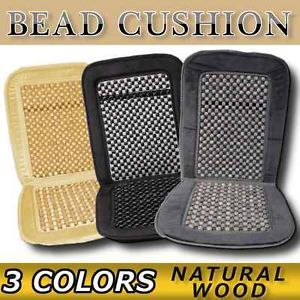 Natural Wood Bead Seat Cushion Auto Car Home Chair Cover 3 Colors Available