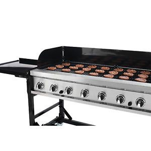 "60"" Portable Griddle Catering Event Grill w Custom Griddle Plate"