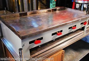 "Reconditioned 40"" Griddle Flat Grill Countertop 4 Burner Manual Gas Grille"
