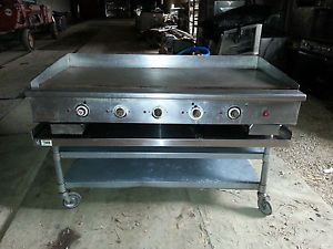 "Vulcan Hart Stainless Steel 60"" Flat Top Griddle Gas Grill Coutertop w Stand"
