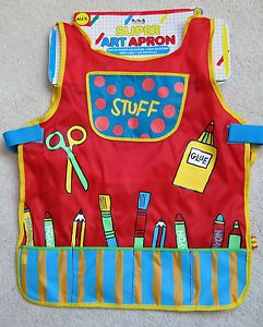 Alex Toys My Super Art Apron Kids Toddler Painting Artist Smock One Size