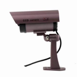 3X Fake Surveillance Dummy Security Camera Waterproof LED Light Indoor Outdoor