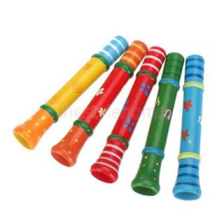 Kids Funny Music Instrument Classic Wooden Speaker Whistle Puzzle Creative Toys