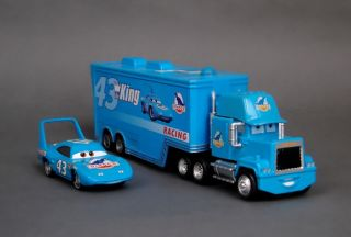 Disney Pixar Cars Diecast 43 Hauler Dinoco Blue Truck The King Gift Toy W8