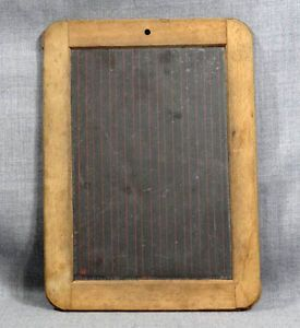 Civil War Era School Childs Slate Chalk Writing Board Tablet Dovetail Wood Frame