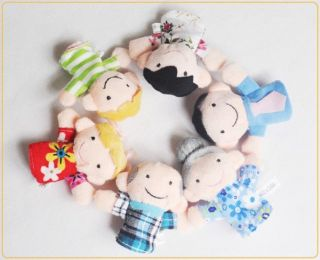6 Pcs Cartoon Human Family Member Fun Finger Puppets Kid Finger Baby Plush Toy