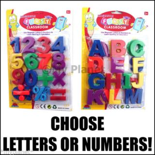 Fridge Magnets Children's Learning Kids Magnetic Letters or Numbers Pick New