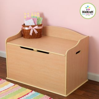 New Kids Wooden Toy Chest KidKraft Storage Box Chest Safety Hinged Lid