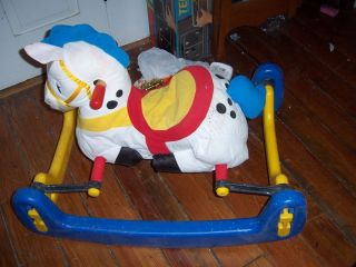Todays Kids Infant Toddler Rocking Bouncy Plush Horse