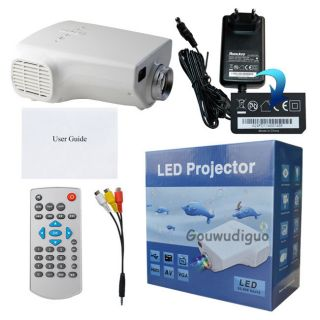 Latest Home Theater LED Projector 1080p HDMI TV AV VGA USB SD PC 80 Lumens