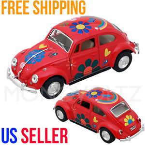 Classic VW Volkswagen Beetle 1 32 Die Cast Pull Back Car Toy for Kids Gift Red