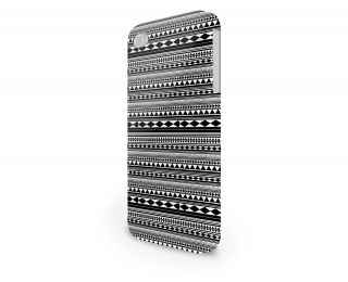 Black White Tribal Hard Cover Case for iPhone Android 65 Other Phones