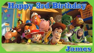 Disney Toy Story 3 Custom Personalized Birthday Banner Party Decoration