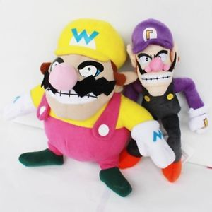 2X Nintendo Game Super Mario Bros Character Plush Toy Wario Waluigi Doll 11""