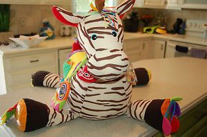 K's Kids Ryan Zebra Large 28 Activity Center Infant Baby Toddler Ride on Toy