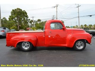 Buick V8 300 Nailhead Auto Fat Fendered Truck Torch Red Custom Hot Rod Cruiser