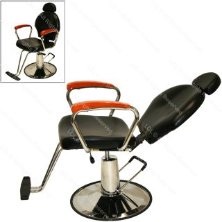 Black Ceramic Shampoo Bowl Sink Hydraulic Reclining Barber Chair Salon Equipment
