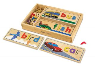 New Melissa Doug Wooden Toys See Spell Spelling School Educational Development