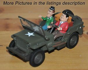Gate Willys Jeep Laurel Hardy Characters 1 32 Scale Diecast Model Kids Toy Car