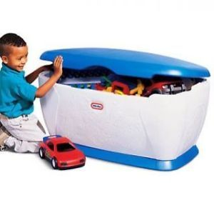 Little Tikes Kids Boys Giant Big Toy Box Storage Chest Blue Large Oversized